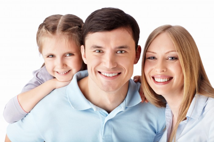 An image of a Family smiling